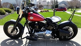 10. Harley Davidson Custom Softail Slim Bobber Style - Walk Around and Review