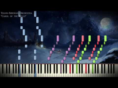 """[Synthesia Piano] Trans-Siberian Orchestra - """"Carol of the Bells"""" - Duet"""