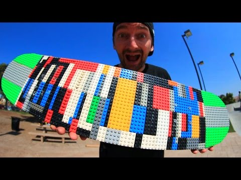 LEGO skate board to try out on a skate park