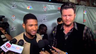 Usher And Blake Shelton Soundbite From 'The Voice' House Of Blues Event