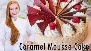 Caramel Raspberry Mousse Cake by Tatyana's Everyday Food