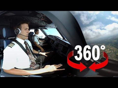 Video 360° kokpit letadla Airbus A320