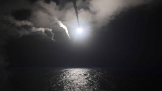 The US launched a military strike on a Syrian government airbase in response to a chemical weapons attack that killed dozens of civilians. CNN's Athena Jones...