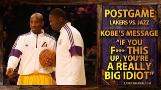 """Kobe Bryant's Message To Julius, """"If You F--- This Up, You're A Really Big Idiot"""""""