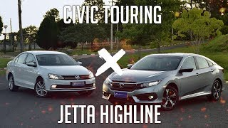 Comparativo: Civic Touring x Jetta Highline
