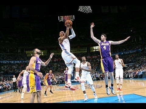 Video: Kevin Durant and Russell Westbrook Combine to Dominate the Lakers