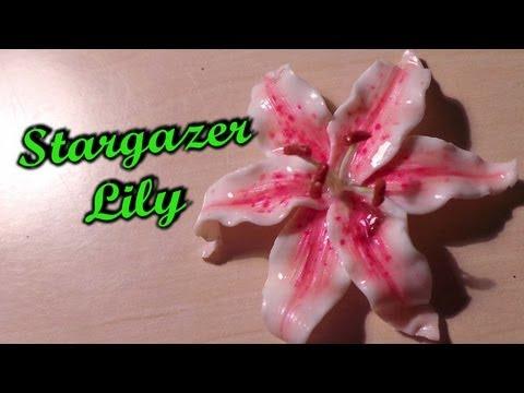 polymer clay flowers - stargazer lily