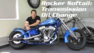 10. How to Change Transmission Oil - Harley Softail Rocker C - Easy