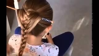 прическа хвост оплетенный косой