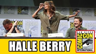 Halle Berry downs a pint of whiskey at the Kingsman The Golden Circle Comic Con Panel!Subscribe for more! ► http://bit.ly/FlicksSubscribeN.B. Footage, clips, previews, trailers & sneak peeks shown at Comic Con panels are not included in this video, as these are not allowed to be filmed. RELATED VIDEOS--------------Kingsman The Golden Circle Comic Con Panel ► http://youtu.be/UyduHdIpQiAKingsman The Secret Service Comic Con Panel ► http://youtu.be/Kwqa4Myv3K4PLAYLISTS YOU MIGHT LIKE------------------------Fox Marvel Movies ► http://bit.ly/FoxMarvelVideosMarvel ► http://bit.ly/MarvelVideosDC ► http://bit.ly/DCVideosStar Wars ► http://bit.ly/StarWarsVidsMovie Deleted Scenes & Rejected Concepts ► http://bit.ly/MovieDeletedScenesEaster Eggs ► http://bit.ly/EasterEggVideosAmazing Movie Facts ► http://bit.ly/ThingsYouDidntKnowVideosPixar ► http://bit.ly/PixarVideosDisney Animation ► http://bit.ly/DisneyAnimationVideosSOCIAL MEDIA & WEBSITE----------------------Twitter ► http://twitter.com/FlicksCityFacebook ► http://facebook.com/FlicksAndTheCityGoogle+ ► http://google.com/+FlicksAndTheCityWebsite ► http://FlicksAndTheCity.comThanks to Comic Con International http://www.comic-con.org/The Kingsman and The Statesman are kicking off Comic-Con 2017. Taron Egerton, Colin Firth, Halle Berry, Channing Tatum, Jeff Bridges and Pedro Pascal will be joined by screenwriter Jane Goldman and Kingsman co-creator and Comic-Con legend Dave Gibbons. The panel will be moderated by Jonathan Ross.
