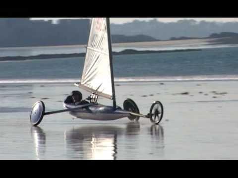 Entrainement en char à voile plage du Sillon