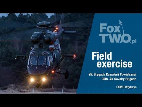 25 Brygada Kawalerii Powietrznej - szkolenie poligonowe