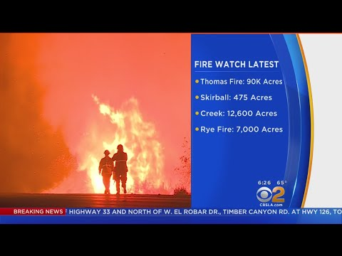 Latest On 4 Fires Burning Across LA, Ventura Counties