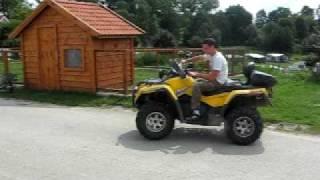 10. BRP Can-Am Outlander Max 800 XT. Driving an ATV in