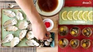 Shooters d'huîtres à la japonaise