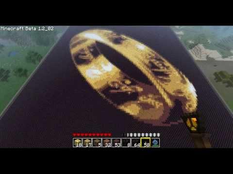 Minecraft - Pixel Art - Folge 2 - Der Eine Ring