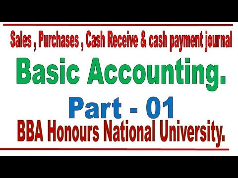 Sales journal, Basic accounting Bangle Lecture-1 by Lecturer Md. Mostafizur Rahman