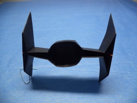 How to make an Origami Tie fighter