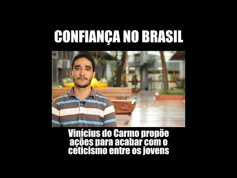 Vinícius do Carmo: mais confiança dos jovens no Brasil