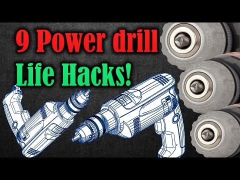9 Life hacks with a Power drill | Diffrent ways to use your drill | Life Hack Tools
