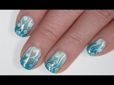 nail art - bolle marine