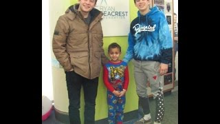 Hayes Grier and Alec Bailey visit Seacrest Studios Charlotte with Digitour