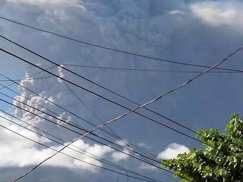 EL SALVADOR: EVACUATION MOMENT CHAPARRASTIQUE VOLCANO ERUPTION TODAY DECEMBER 29, 2013