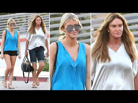 EXCLUSIVE - Caitlyn Jenner Goes Braless, Fighting The SoCal Heatwave With GF Sophia Hutchins