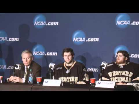 Western Michigan head coach Andy Murray and players talk about NCAA regional semifinal loss to North Dakota