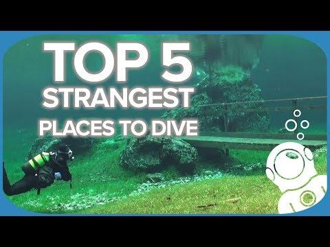 Top 5 vreemdste plaatsen om te duiken