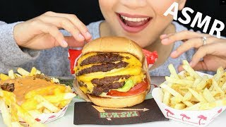 ASMR In-N-Out 4x4 CHEESEBURGER Eating Sounds GEPOY TUASON REQUEST