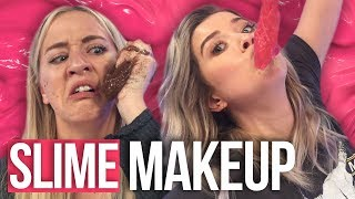 Making Slime Makeup Tutorial FAIL (Beauty Break) by Clevver Style