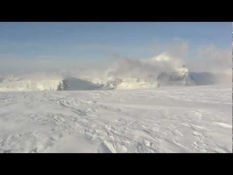 Ski Mountaineering on the Columbia Icefields. Mount Columbia
