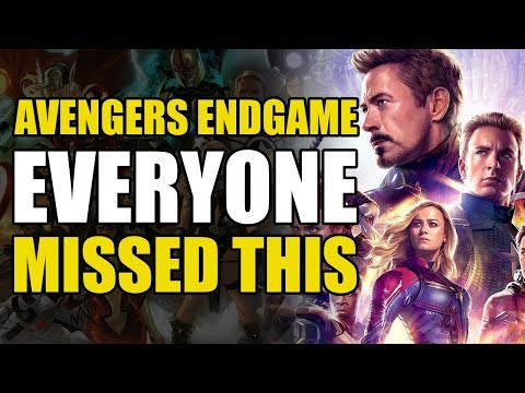 Avengers Endgame: Everyone Missed This