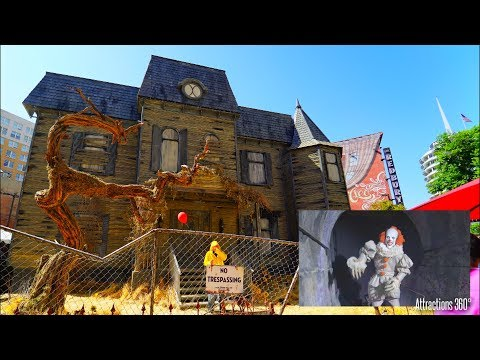 [4K] The IT Experience - Haunted House Attraction - Hollywood - Highlights