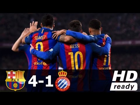 Barcelona Vs Espanyol 4-1 Full Highlights & Goals HD | 18 Dec 2016