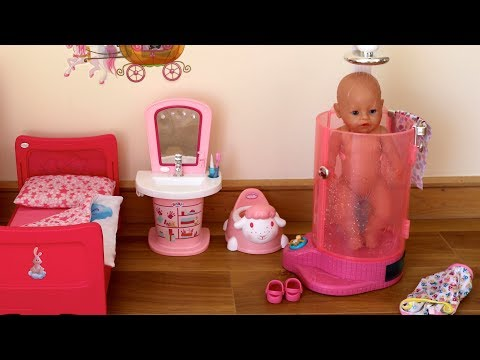 Baby Born Rain Fun Shower and Interactive Bath! Baby Born Baby Annabell Evening Bedtime Routine