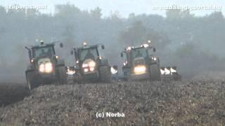 Plowing / Ploughing / Szántás - John Deere 6630, 7720, 7820, 8320, Fendt 936 in Hungary 2011