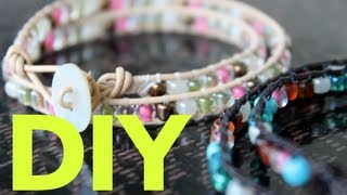 Easy & Simple DIY - Chan Luu Inspired Wrap Bracelet - YouTube