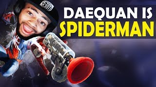 DAEQUAN DOUBLE GRAPPLING HOOK PLAYS | SPIDERMAN - HIGH KILL FUNNY GAME - (Fortnite Battle Royale)