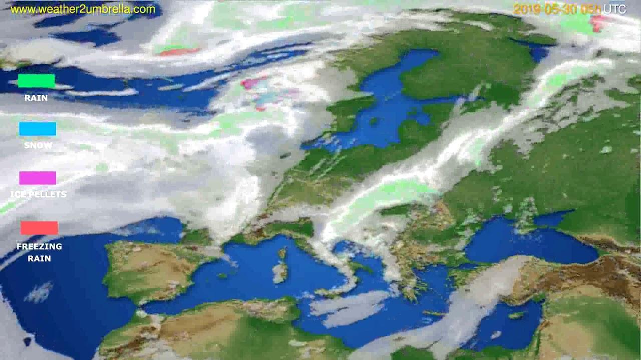 Precipitation forecast Europe // modelrun: 00h UTC 2019-05-28