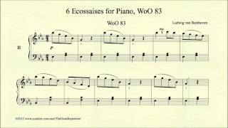 Beethoven, 6 Ecossaises for Piano, No 2, WoO 83