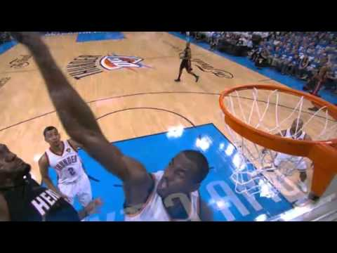 Video: Serge Ibaka incredible block on LeBron's dunk (June 14, 2012)