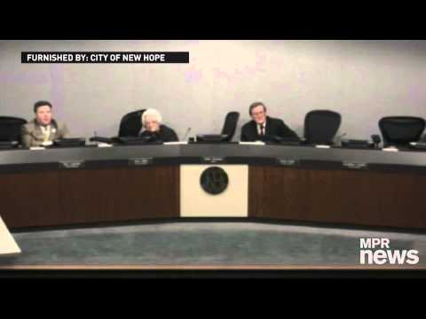 City Council - At a New Hope City Council meeting on Monday night, video of the meeting shows council members reacting as they hear gunshots outside council chambers.