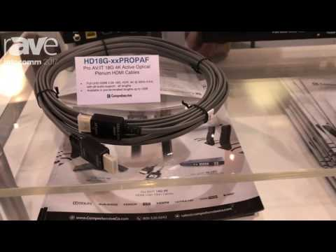 InfoComm 2017: Pro AV/IT 18Gb 4K Active Optical Plenum HDMI Cable