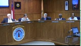 The Bladen County Board of Commissioners met about the Fiscal Year 2017-18 Budget on 6/19/2017.
