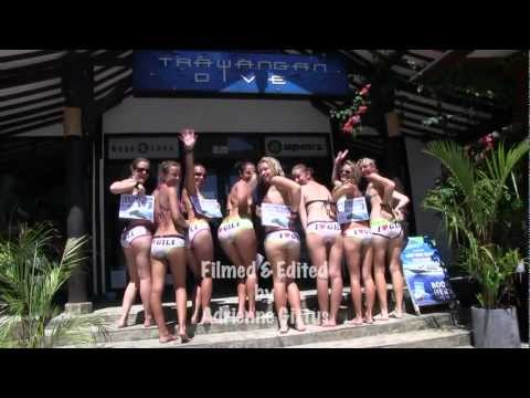 Gili girls get their gear off for sharks