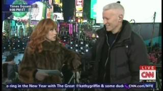 New Year's Eve Live 2015 Anderson Cooper Kathy Griffin Times Square New York (1/17)