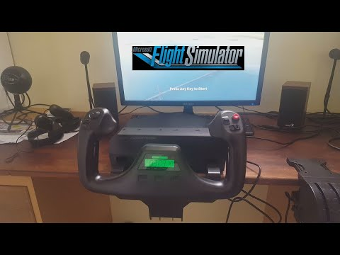 FS2020: Setting up the Logitech Flight Yoke System and alleviating the Deadzone!