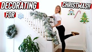 decorating for christmas! vlogmas day 17 by Alisha Marie Vlogs